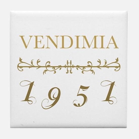 Vintage 1951 Tile Coaster