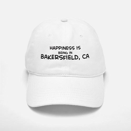 Happiness is Bakersfield Baseball Baseball Cap
