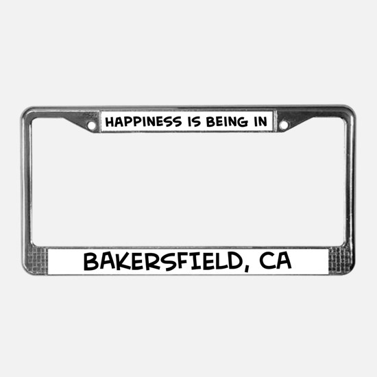 Happiness is Bakersfield License Plate Frame