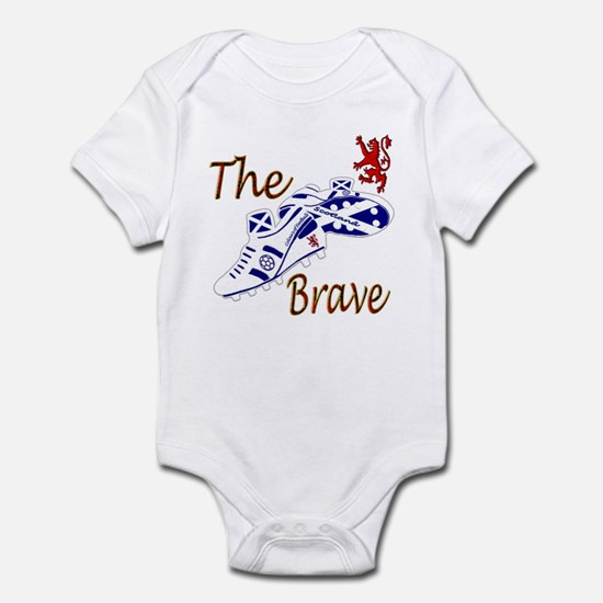 Scottish white football boots Infant Bodysuit