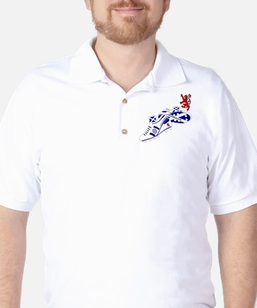 Scottish white football boots Golf Shirt