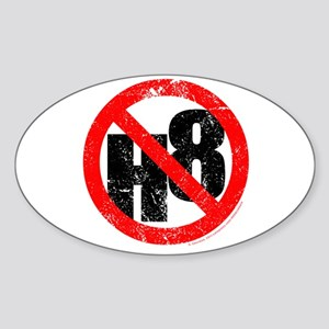 No Hate - < NO H8 > Sticker (Oval)