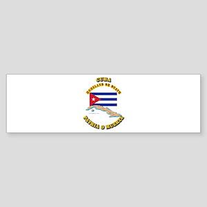Emblem - Cuba Sticker (Bumper)