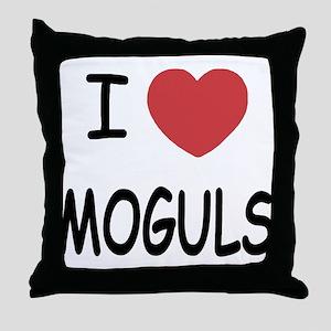 I heart moguls Throw Pillow