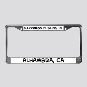 Happiness is Alhambra License Plate Frame