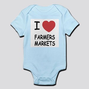 I heart farmers markets Infant Bodysuit