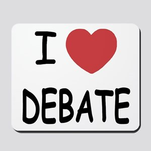 I heart debate Mousepad