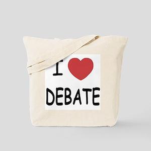 I heart debate Tote Bag