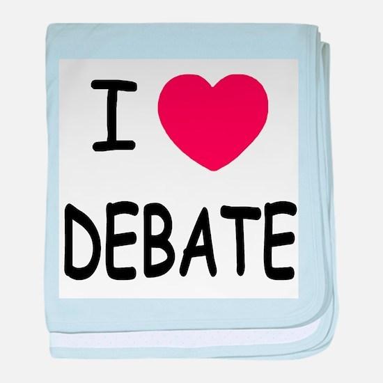 I heart debate baby blanket