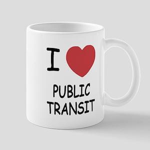 I heart public transit Mug