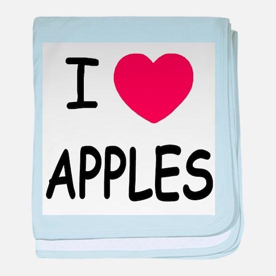 I heart apples baby blanket