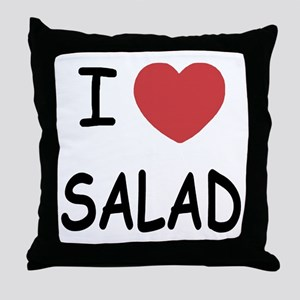 I heart salad Throw Pillow