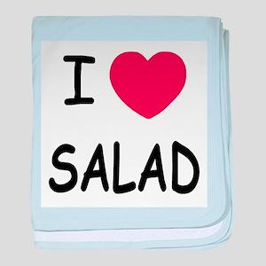 I heart salad baby blanket