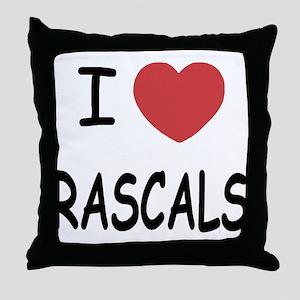 I heart rascals Throw Pillow