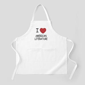 I heart american literature Apron