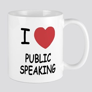 I heart public speaking Mug