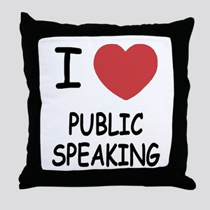I heart public speaking Throw Pillow