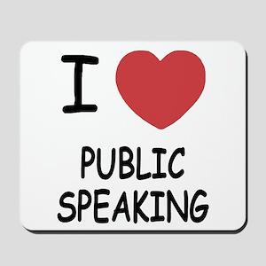 I heart public speaking Mousepad