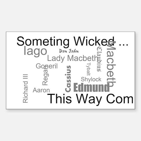 Cool Richard iii Sticker (Rectangle)