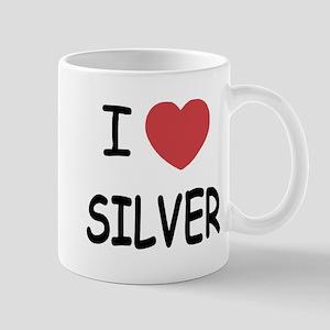 I heart silver Mug