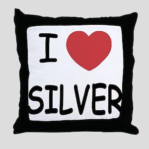 I heart silver Throw Pillow