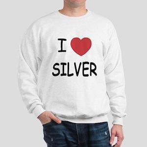 I heart silver Sweatshirt