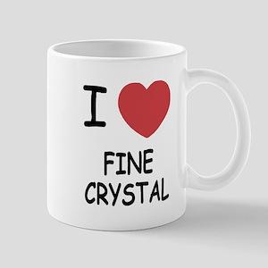 I heart fine crystal Mug