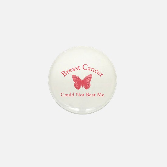 Breast Cancer Butterfly Mini Button