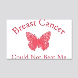 Breast Cancer Butterfly Car Magnet 20 x 12