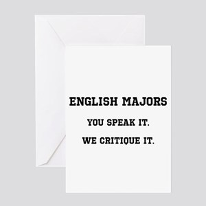 You Speak, We Critique Greeting Card