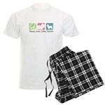 Peace, Love, Cairn Terriers Men's Light Pajamas