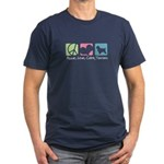 Peace, Love, Cairn Terriers Men's Fitted T-Shirt (