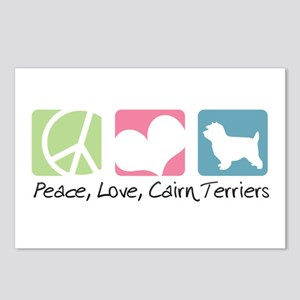 Peace, Love, Cairn Terriers Postcards (Package of