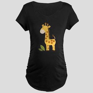 Cute Giraffe Maternity Dark T-Shirt
