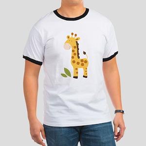 Cute Giraffe Ringer T