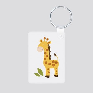 Cute Giraffe Aluminum Photo Keychain