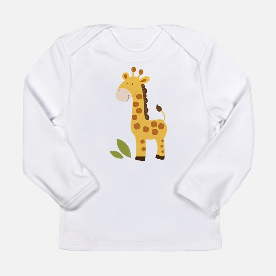 Cute Giraffe Long Sleeve Infant T-Shirt