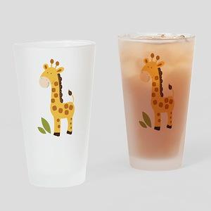 Cute Giraffe Drinking Glass