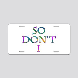 So Don't I Multi-Colors Aluminum License Plate
