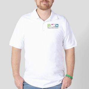 Peace, Love, Chessies Golf Shirt