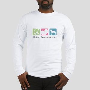 Peace, Love, Chessies Long Sleeve T-Shirt