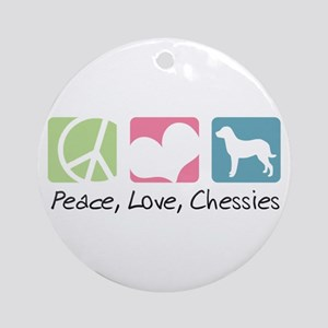 Peace, Love, Chessies Ornament (Round)
