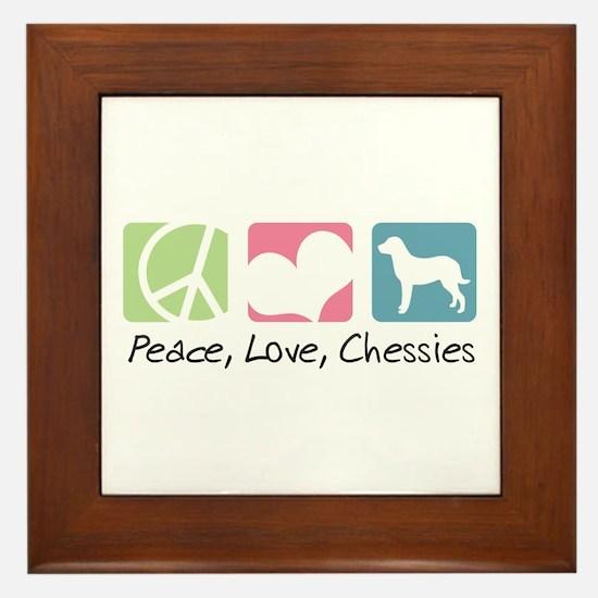 Peace, Love, Chessies Framed Tile