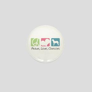 Peace, Love, Chessies Mini Button