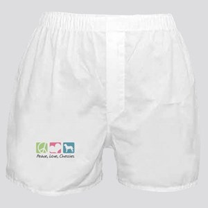 Peace, Love, Chessies Boxer Shorts