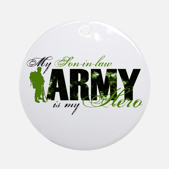 Son-in-law Hero3 - ARMY Ornament (Round)