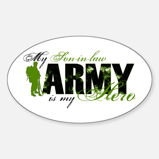 Son-in-law Hero3 - ARMY Sticker (Oval)