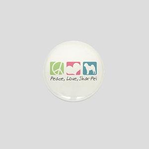Peace, Love, Shar-Pei Mini Button
