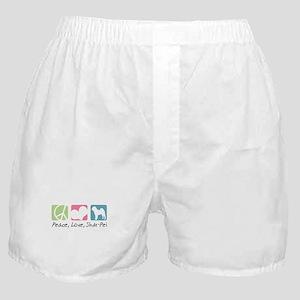 Peace, Love, Shar-Pei Boxer Shorts