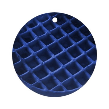 Blue Waffle Ornament Round By Bluewafflets